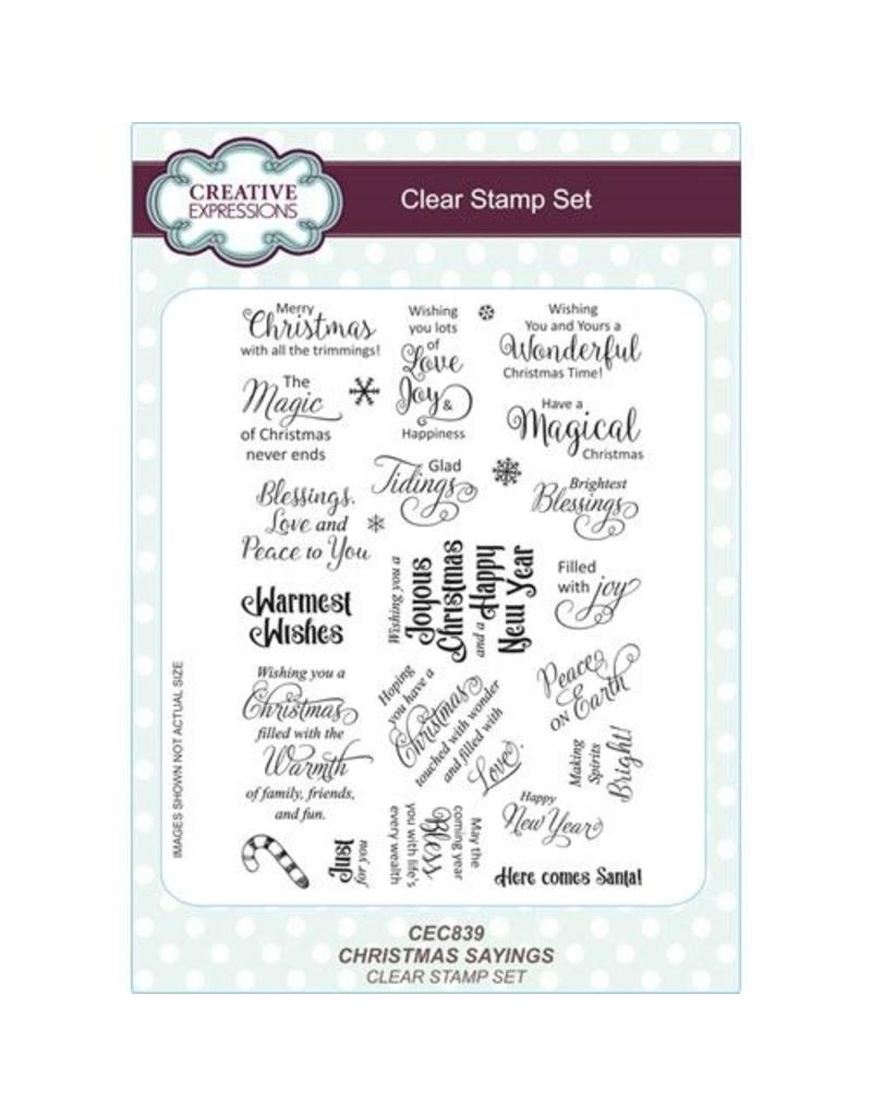 Creative Expressions Creative Expressions CHRISTMAS SAYINGS Clear Stamps CEC839