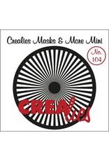 Crealies Masks & More Mini no. 104 Zonnestralen recht 105mm / CLMMM104