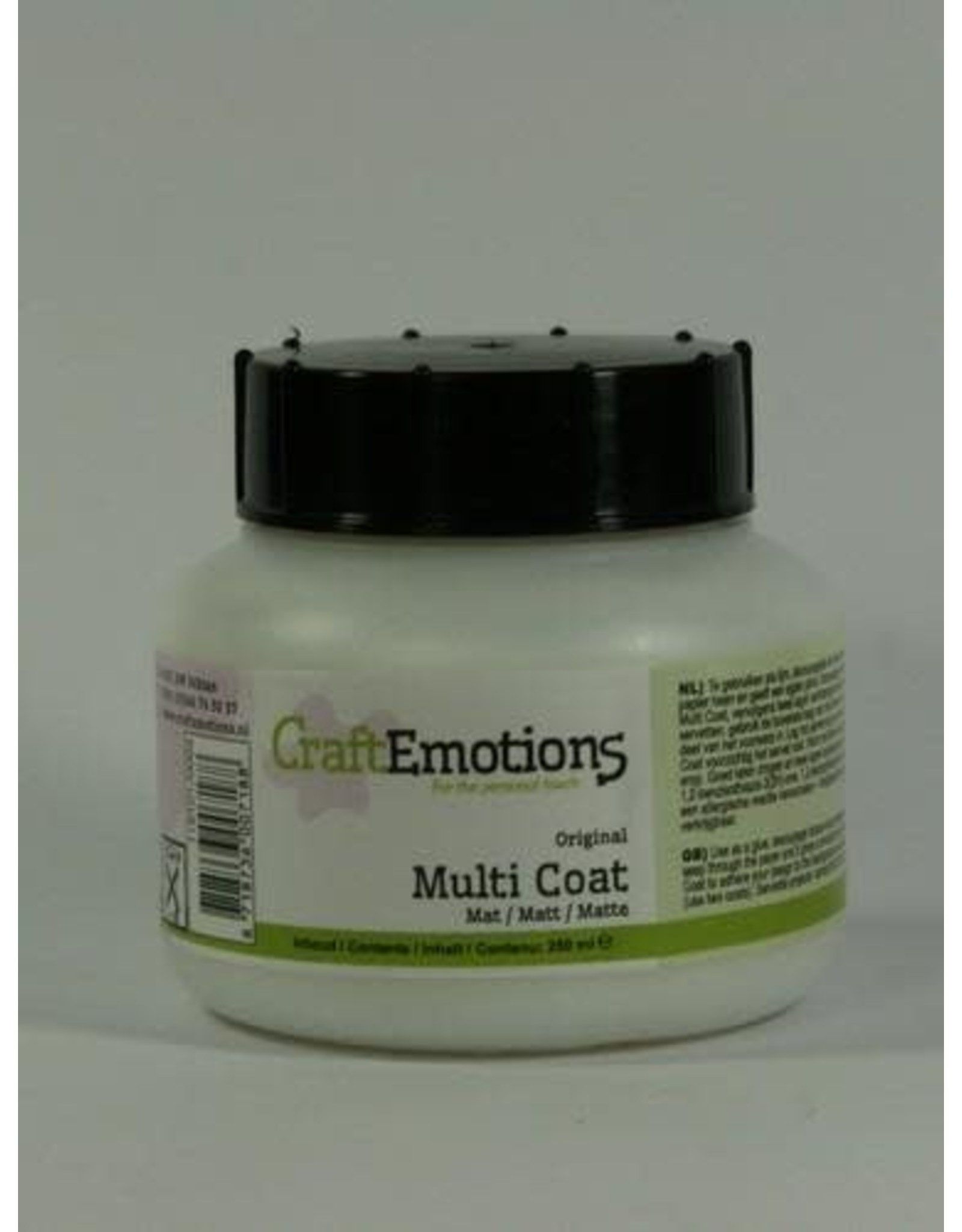 Craft Emotions CraftEmotions Multi coat mat 250ML