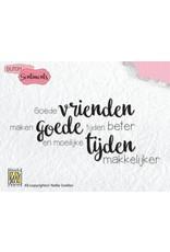 Nellie's Choice Nellies Choice Clearstempel Sentiments - Goede vrienden (NL) SENC006