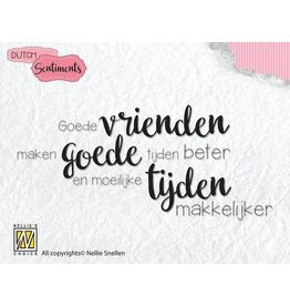 Nellie's Choice Nellies Choice Clearstempel Sentiments - Goede vrienden (NL) SENC006