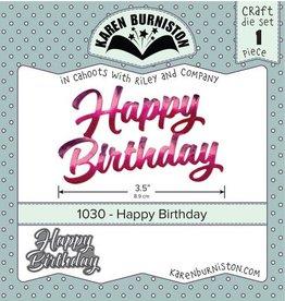 Karen Burniston Karen Burniston Happy Birthday 1030