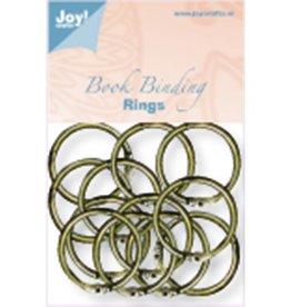 Joy Crafts (12) Boekbinders-ringen antiek koper 6200/0131