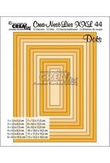 Crealies Crealies Crea-nest-dies XXL no. 44 Rechthoeken met stippen max. 12,5 x 16,5 cm / CLNestXXL44