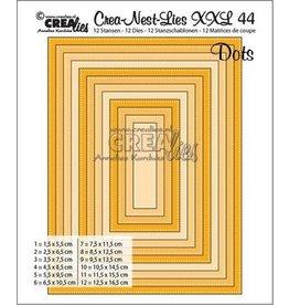 Crealies Crea-nest-dies Crealies Crea-nest-dies XXL no. 44 Rechthoeken met stippen max. 12,5 x 16,5 cm / CLNestXXL44