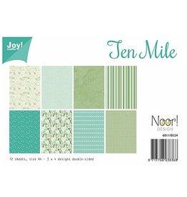 Joy Noor papierset Joy Crafts papierset A4 Design Ten Mile 6011/0524
