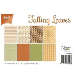 Joy Noor papierset JoyCrafts Papier Set A4 Falling Leaves 6011/0540