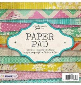 Studio Light Paper pad 36 vel 12 designs nr 66 PPSL66 15x15 cm