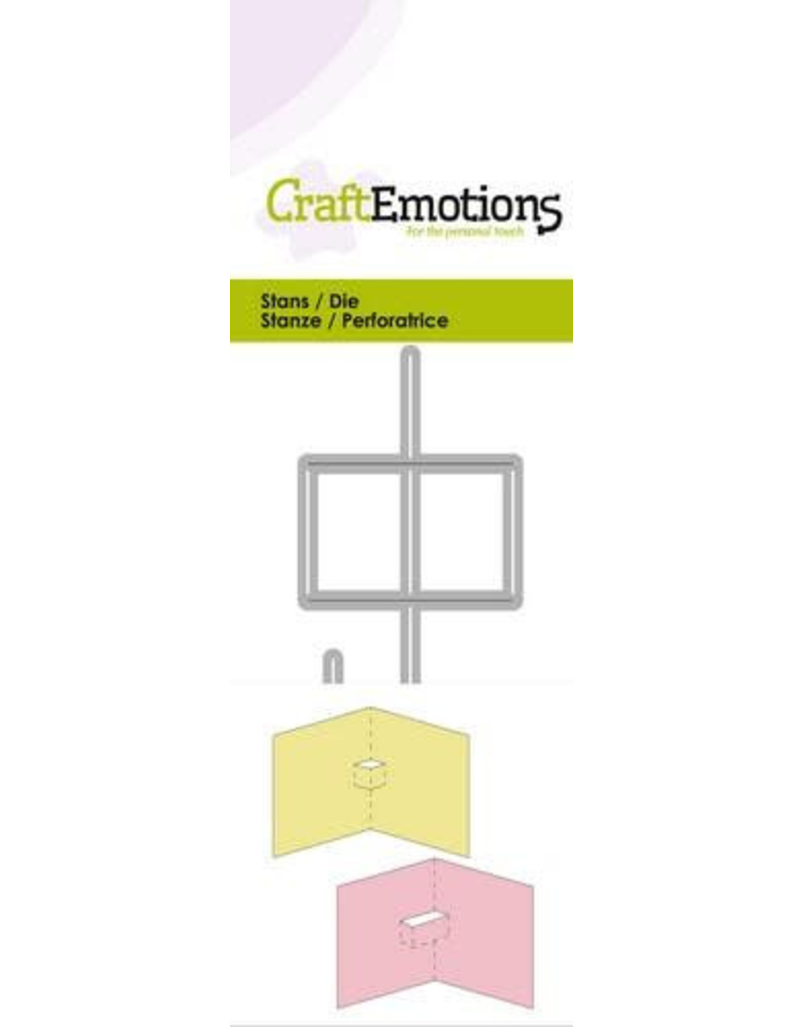 Craft Emotions CraftEmotions Die - 2x pop-up basis Card 5x10cm
