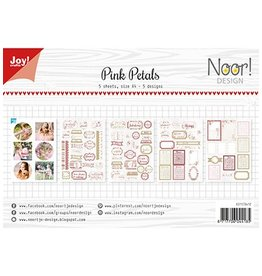 Joy Noor papierset Joy CraftsLabelvellen/knipvel - Noor - Pink Petals 6011/0412