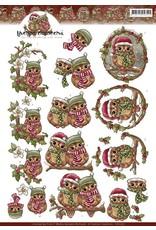 3D Knipvel - Yvonne Creations - Christmas Owls