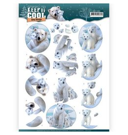 3D knipvel - Amy Design - Keep it Cool - Cool Polar Bears  CD11202