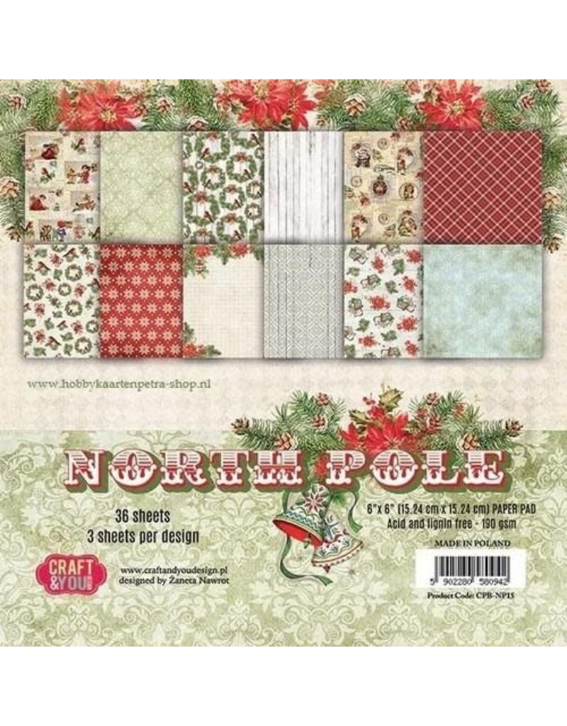 Craft&You North Pole Small Paper Pad 6x6 36 vel