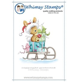 Wimsy Stamps Whimsy Stamps Christmas Bunny Rubber Cling Stamp SZWS107