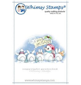 Whimsy Stamps Whimsy Stamps Christmas Bunny Row Rubber Cling Stamp C1261