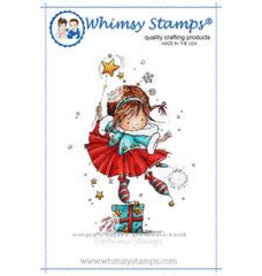 Wimsy Stamps Whimsy Stamps Ruby's Christmas Wish Rubber Cling Stamp MF121