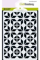 Craft Emotions CraftEmotions MM Mix stencil design ruit bloem blok A6