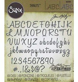 Sizzix Thinlits Sizzix Alfanummerisch schrift stanzen 662228 69 stuks