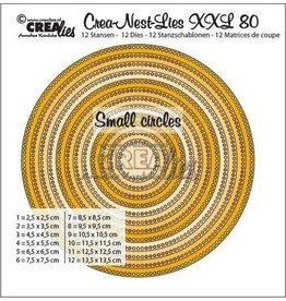 Crealies Crea-nest-dies Crealies Crea-Nest-Lies XXL no 80 cirkels - kleine gaatjes CLNestXXL80 13,5x13,5cm