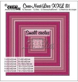 Crealies Crealies Crea-Nest-Lies XXL no 81 vierkanten -kleine gaatjes CLNestXXL81 13,5x13,5cm