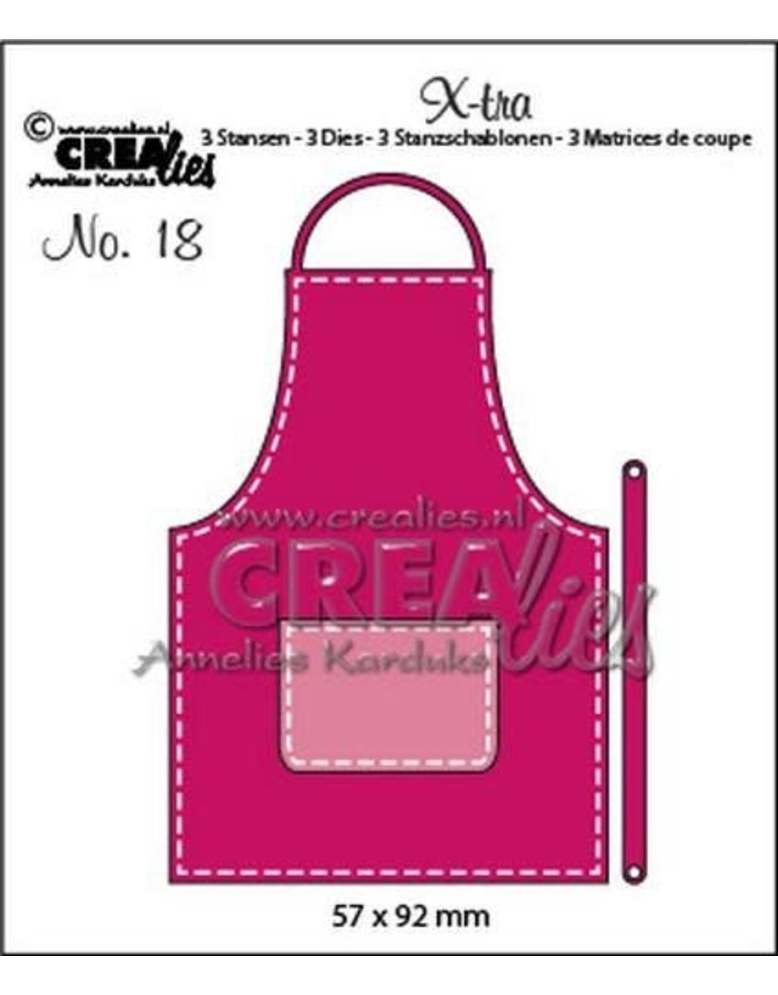 Crealies Crealies X-tra no. 18 schort (klein) X-tra no. 18 57x92mm