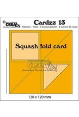 Crealies Crealies Cardzz no 13 squash fold card CLCZ13 120x120mm