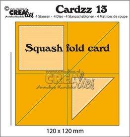 Crealies Crea-nest-dies Crealies Cardzz no 13 squash fold card CLCZ13 120x120mm