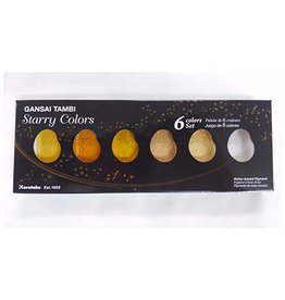 Gansai Tambi Starry Colors, 6 Colors set