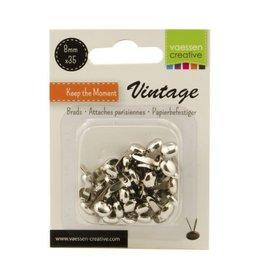 Vaessen Creative Brads Vintage 8mm x35 zilver
