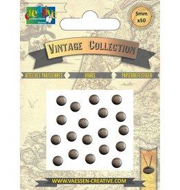 Vaessen Creative Brads Vintage 5mm x50 antiek zilver