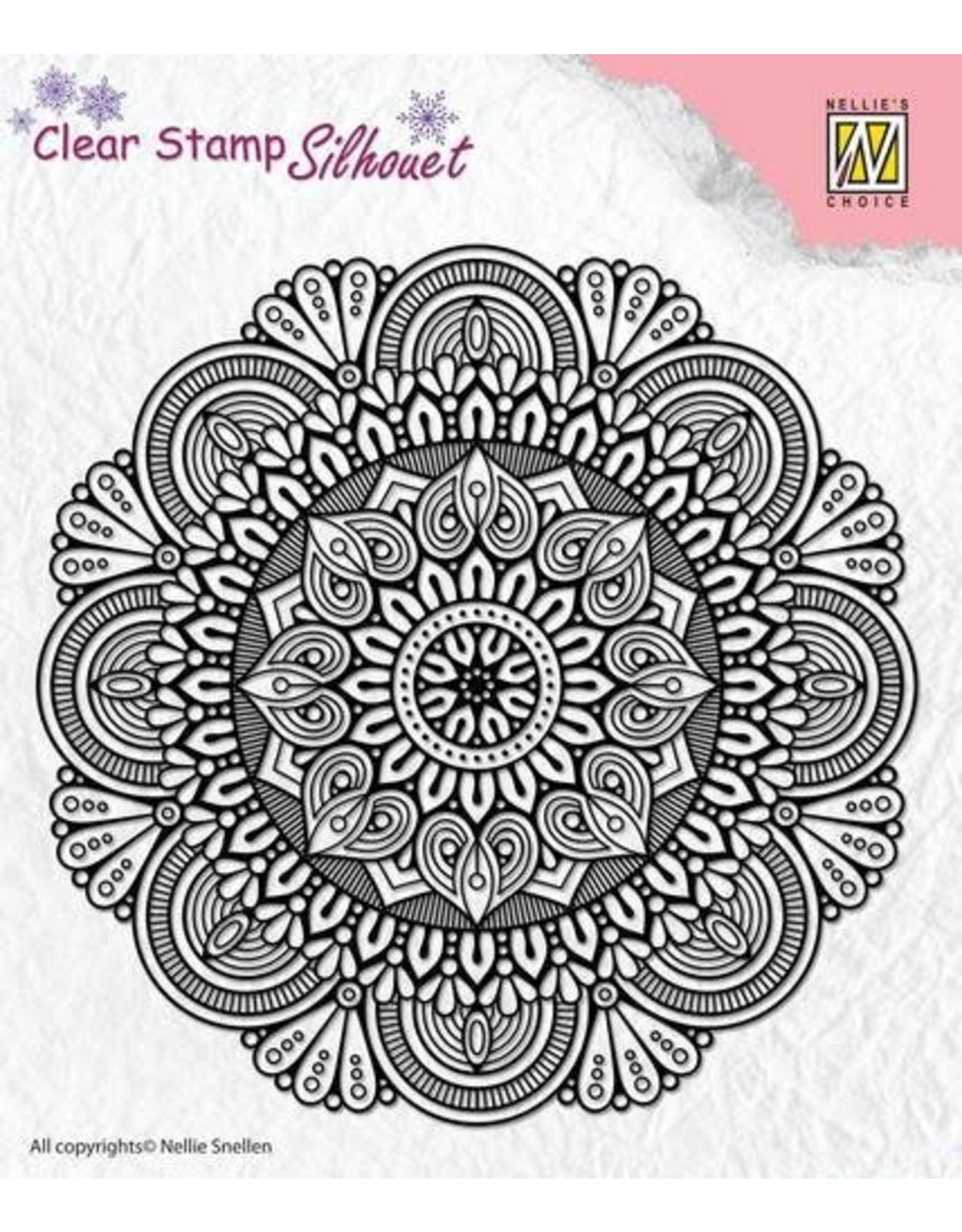 Nellie's Choice Nellie`s Choice Silhouette Clear Stamps Mandala 3 SIL041 81x42mm