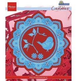 Marianne Design Marianne Design Creatables Petra's circle with bird  LR0457
