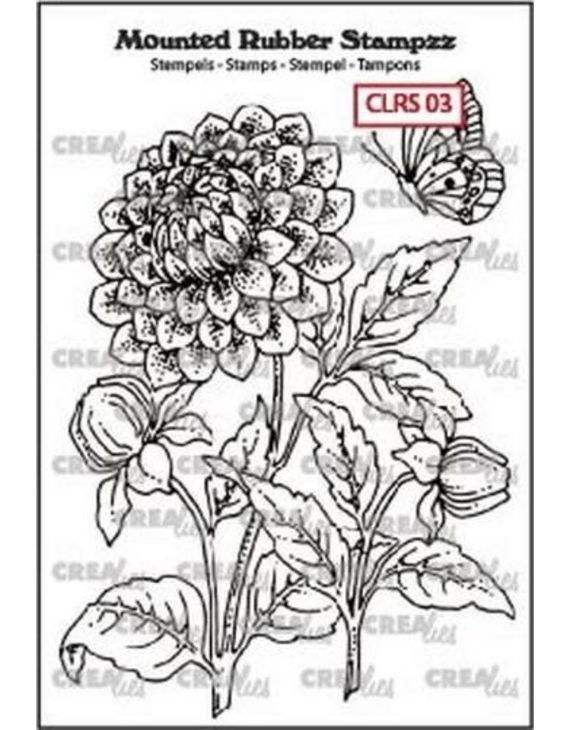 Crealies Crealies Mounted Rubber Stampzz no. 3 Dahlia CLRS03 69x97mm