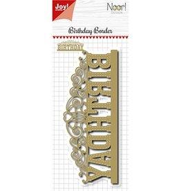 Joy Craft Joy Crafts Snijstencil - Noor - Birthday-border 6002/1174