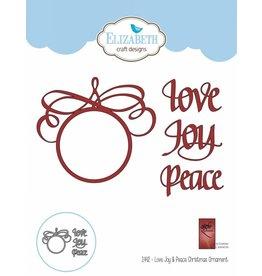 Elizabeth Craft Designs Love Joy & Peace Christmas Ornament 1442