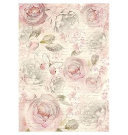 Stamperia Rice Paper A4 Shabby Roses (DFSA4158)