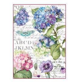 Stamperia Stamperia Rice Paper A4 Hortensia & Dragonfly (DFSA4307)