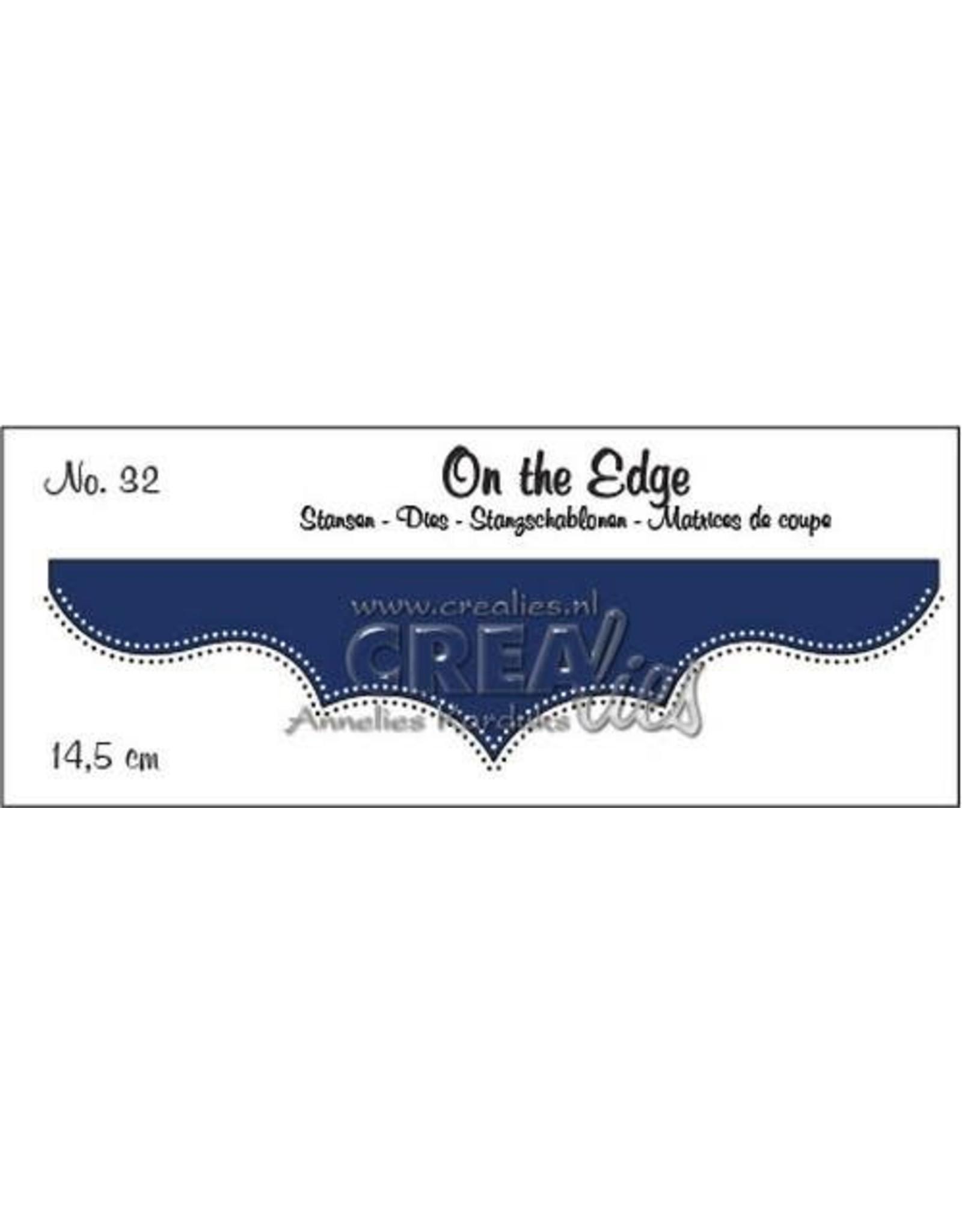 Crealies Crealies On the edge die stans no 32 CLOTE32