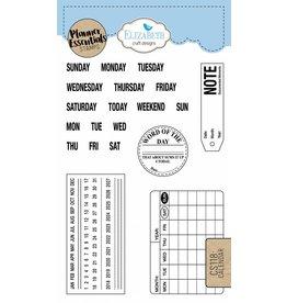 Elizabeth Craft Designs Elizabeth Crafts Design Planner stamps calender CS118