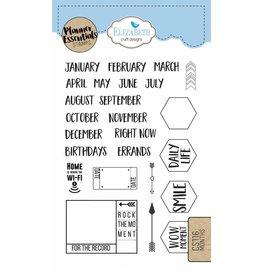Elizabeth Craft Designs Elizabeth Crafts Design Planner stamps Months  CS116