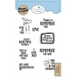 Elizabeth Craft Designs Elizabeth Craft Designs Planner stamps Remember CS121