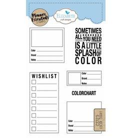 Elizabeth Crafts Design Planner stamps color chart CS123