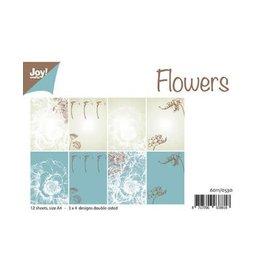 Joy Noor papierset Joy Crafts Papierset A4 Design Flowers 6011/0530