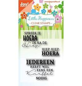 Joy Craft Joy Crafts Clear stempel - Hiep hiep hoera 6410/0471