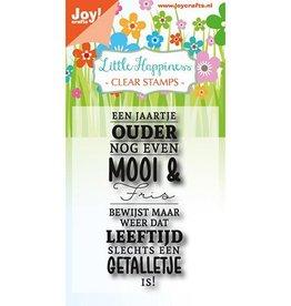 Joy Craft Joy Crafts Clear stempel - Een jaartje ouder 6410/0472