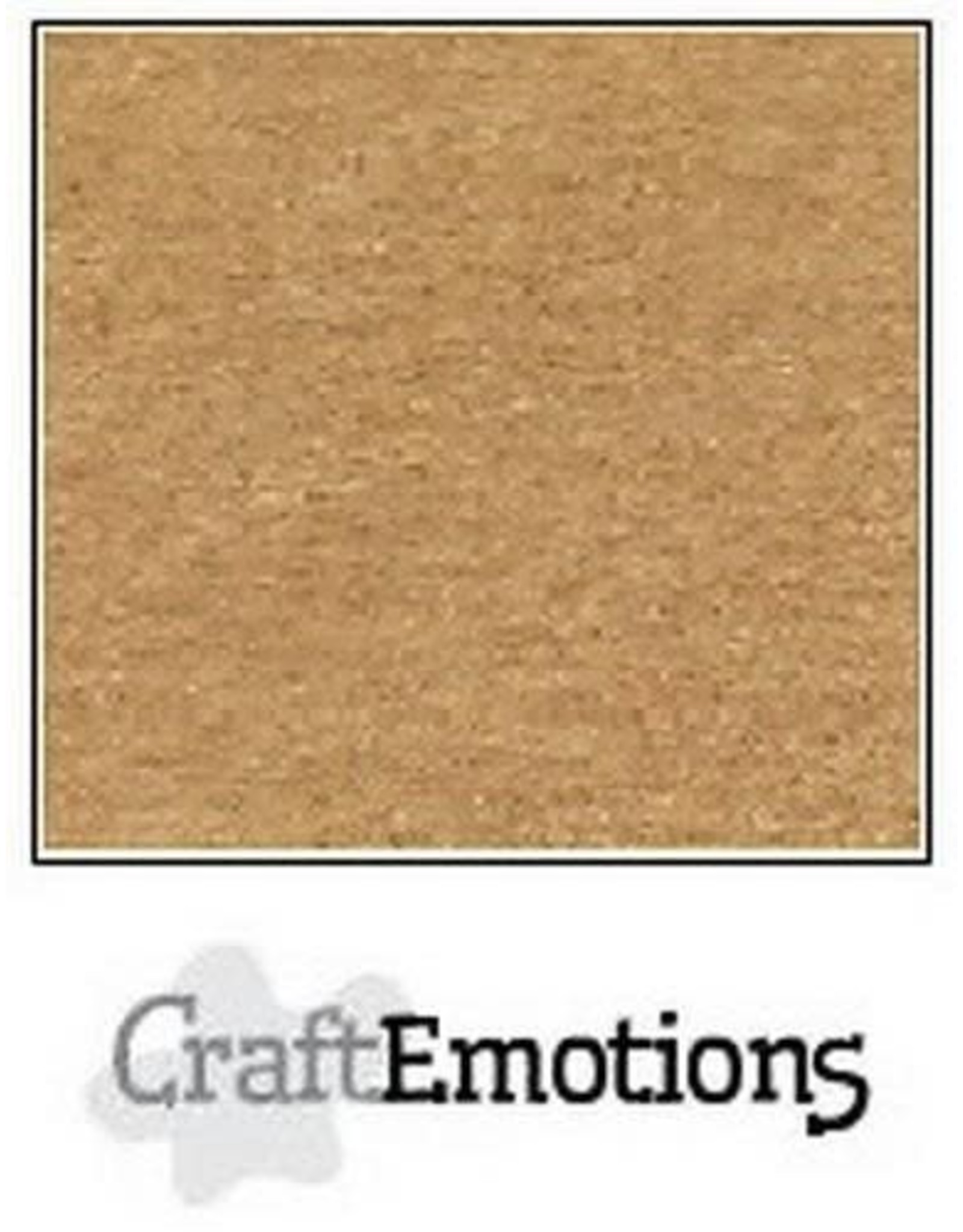 Craft Emotions CraftEmotions karton kraft lichtbruin 10 vel 30,5x30,5cm 220GR