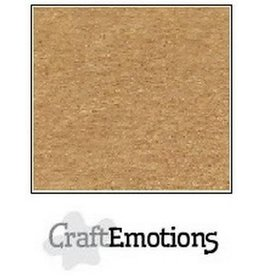 Craft Emotions CraftEmotions karton kraft lichtbruin 10 vel 30,5x30,5cm 220GR