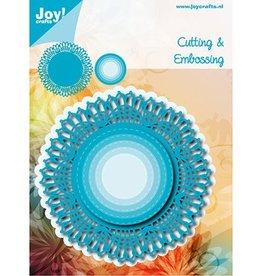 Joy Craft Joy Crafts Snij-embosstencil - Blauw Kantrand Cirkel  6002/1141