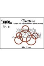 Crealies Crealies Decorette no. 11 cirkels in elkaar 45x55mm / CLDR11