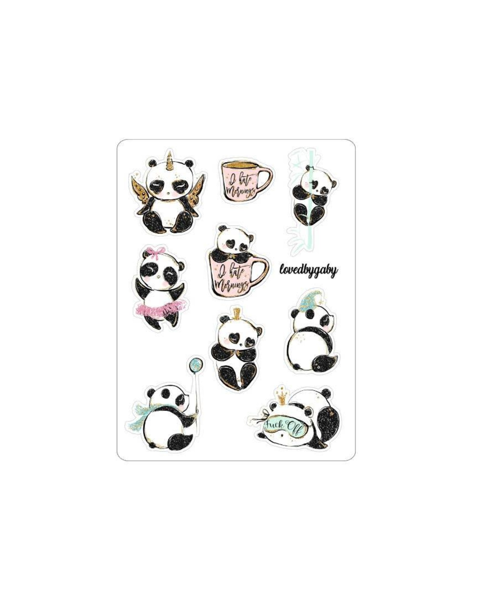 "LovedbyGaby Loved by Gaby stickers ""Panda"""